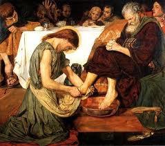 Господь умывает ноги ученикам
