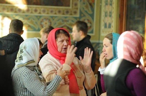 разговор в храме