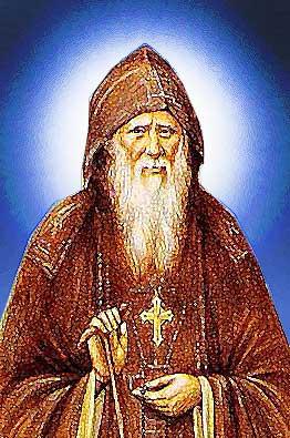 Преподобный Оптинский старец Амвросий.