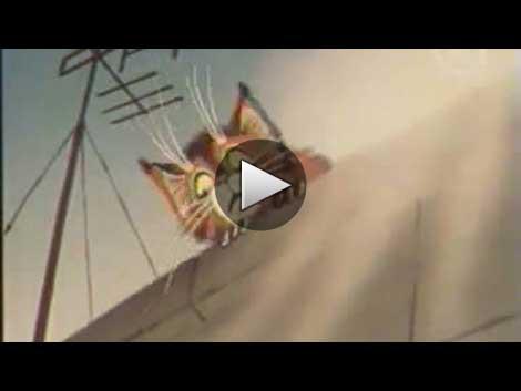 Отчаянный кот. Мультфильм