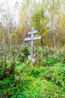 Крест в рославльских лесах