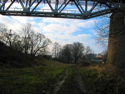 Козельск. Осень. ж/д мост через Жиздру.
